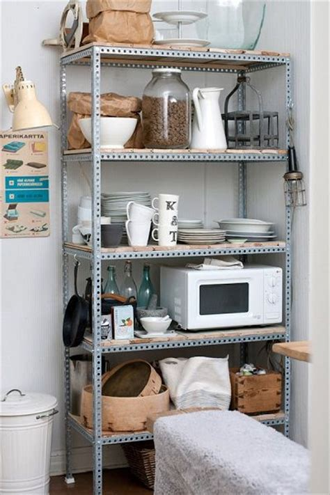 metal kitchen storage cabinets metal shelf unit with wood shelves used for appliances 7466