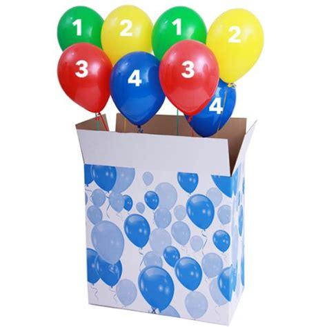 zelf l maken ballon doos gevuld met 8 losse helium ballonnen zelf samenstellen