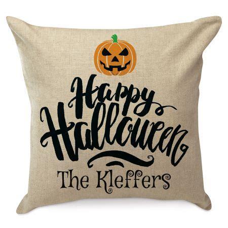 happy halloween personalized pillow lillian vernon
