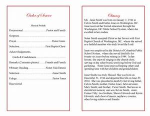 obituary for funeral program examples With death program templates