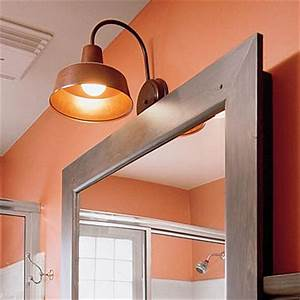 barn wall sconces are perfect for use in small spaces With barn style bathroom lighting