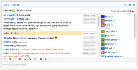 Affiliate Marketing Chatroom