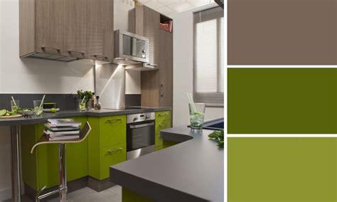 deco cuisine marron déco chambre vert anis et gris