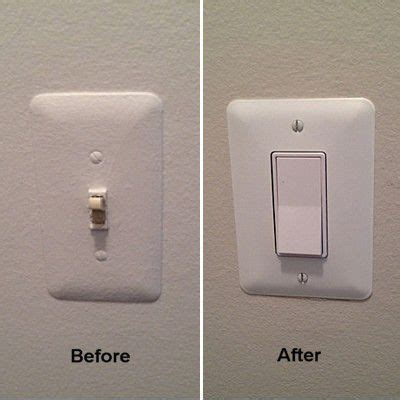 how to fix a light switch replacing a toggle light switch with a rocker switch