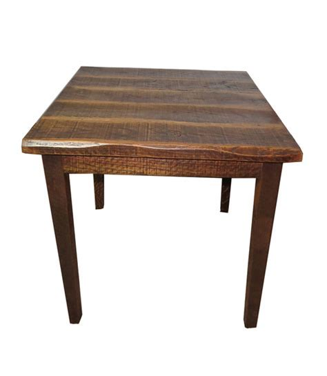 "Rustic Distressed Oak 36"" High Kitchen Table with 40X40 Top"