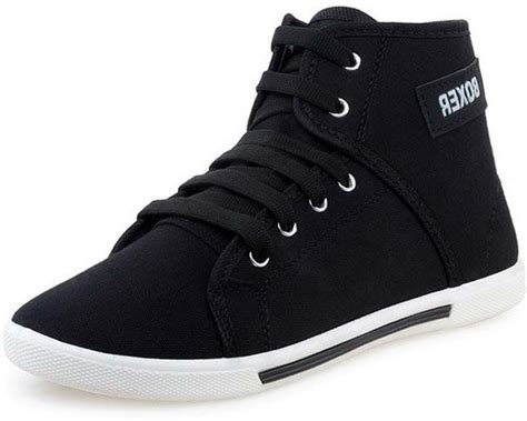 Buy Black Color Gusto Canvas Shoes