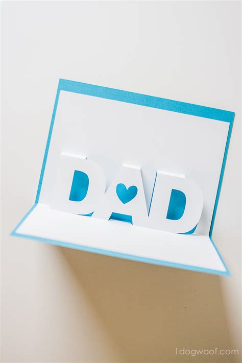 fathers day pop  card   silhouette templates