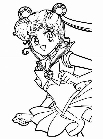 Moon Colorear Dibujos Sailor Sailoor Imprimir Gratis