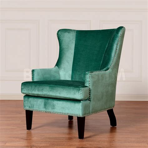 sale 543 90 soho turquoise velvet wing chair accent