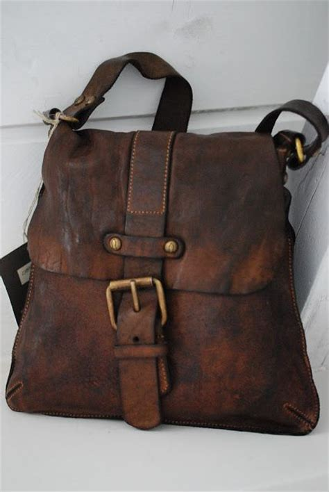 beautiful leather purse love  rustic design
