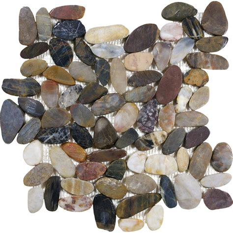 shop style selections river rock multicolor flat polished