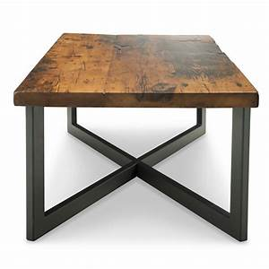 Portland coffee table woodcraft solid wood furniture for Reclaimed teak wood coffee table