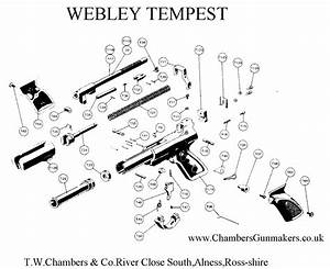 The Airgunner  U203a Webley Tempest  Exploded View