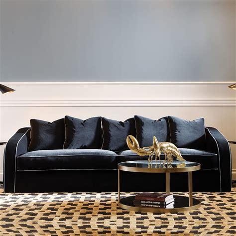 Luxurious Contemporary Home by Luxurious Contemporary Italian Velvet Sofa