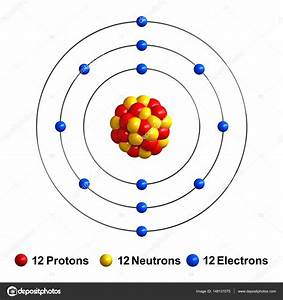3d Render Of Atom Structure Of Magnesium  U2014 Stock Photo