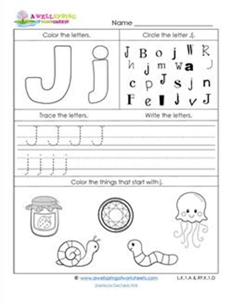 letter j worksheets abc worksheets letter j alphabet worksheets a wellspring 10784