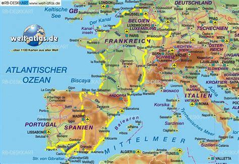 landkarte frankreich spanien  blog