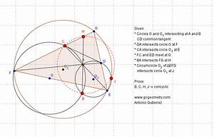 Static Geometry Problem 901  Intersecting Circles  Common