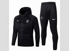 PSG 201718 Black Training SuitHoody Jacket+Pants