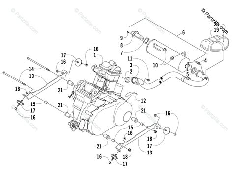 Arctic Cat Engine Diagram by Arctic Cat Side By Side 2011 Oem Parts Diagram For Engine