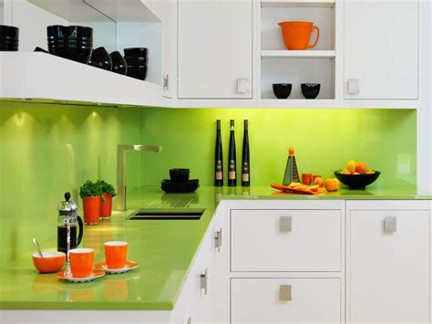 Orange and lime green kitchen, best colors to paint a