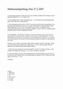 Zinsrechnung Tage Berechnen : 4teachers lehrproben unterrichtsentw rfe und ~ Themetempest.com Abrechnung