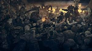 Gears of war soldiers monsters sci-fi battle mecha robot ...