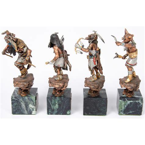 kachina dancer collection legends sculptures cowans auction house  midwests