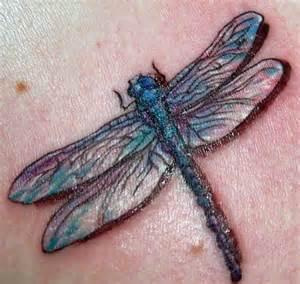Realistic Dragonfly Tattoo Designs