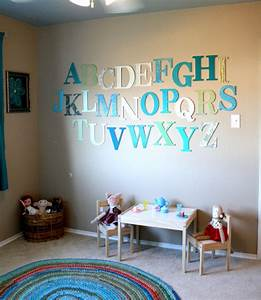 alphabet themed rooms for kids design dazzle With wall letters for kids room