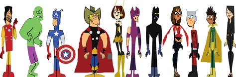 totally not malware template total drama avengers by organizationxiiigwen on deviantart