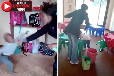 daycare worker  stamped  boys head  punched