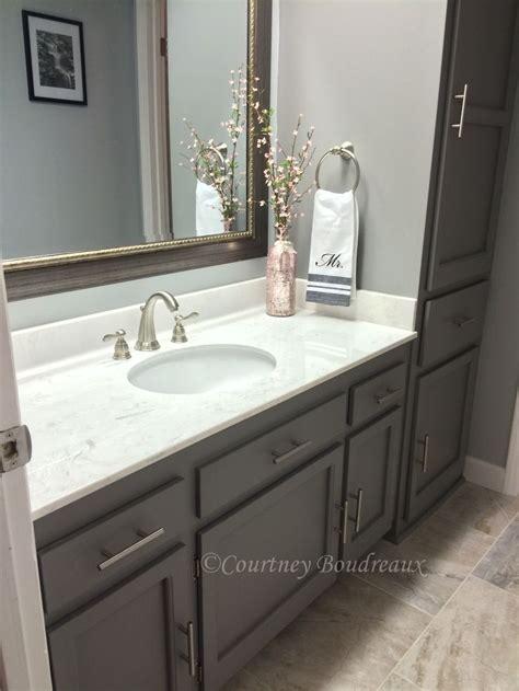 grey  white bathroom behr paint  color