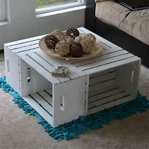 20 diy wooden crate coffee tables guide patterns With white crate coffee table