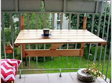 Balcony coffee table Hanging and collapsible! Projekty