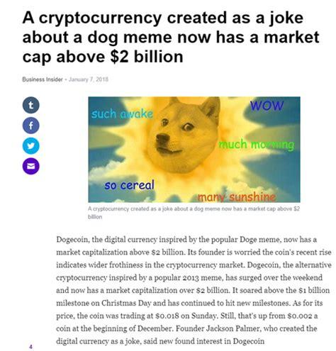 DogeCoin? Such wow! When an Internet meme has a $2 billion ...