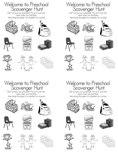 preschool open house free printable scavenger hunt tips 764 | Scavenger Hunt whole sheet bw