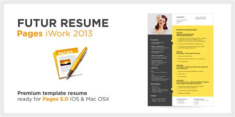quot futur quot resume the best template cv for apple pages 5 0