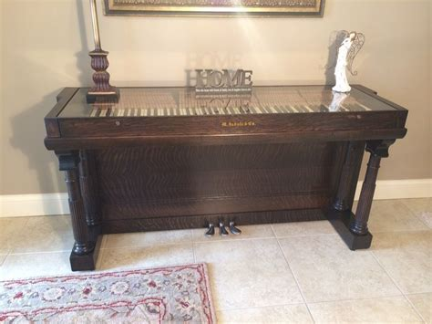 1900's old Willard upright repurposed piano. This piece