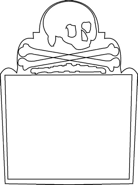 headstone template gravestone coloring pages