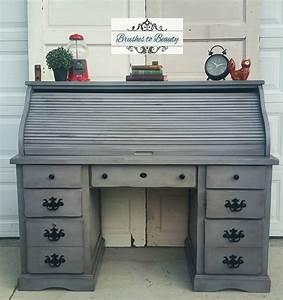 Custom Gray Roll Top Desk General Finishes Design Center