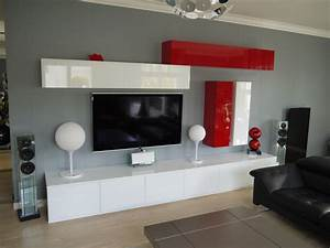 meuble tele rouge conceptions de maison blanzzacom With meuble tv sur mesure design 2 meuble tv living design moderne portes push laque