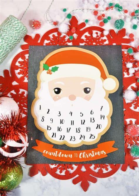 santa claus printable advent calendar