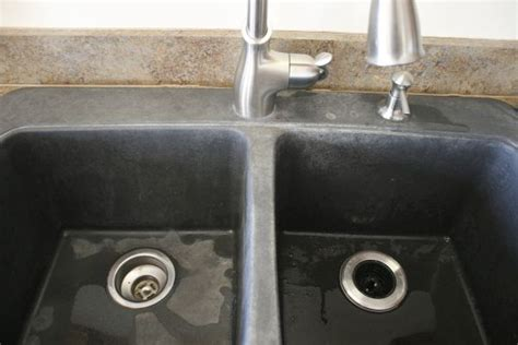 how to clean composite sink kitchen battle of the black granite composite sink whimsy gal