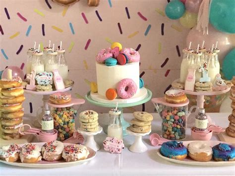 karas party ideas donut grow  st birthday party