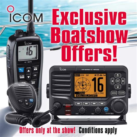 Boat Show Offers by Exclusive Icom Boat Show 2018 Offers