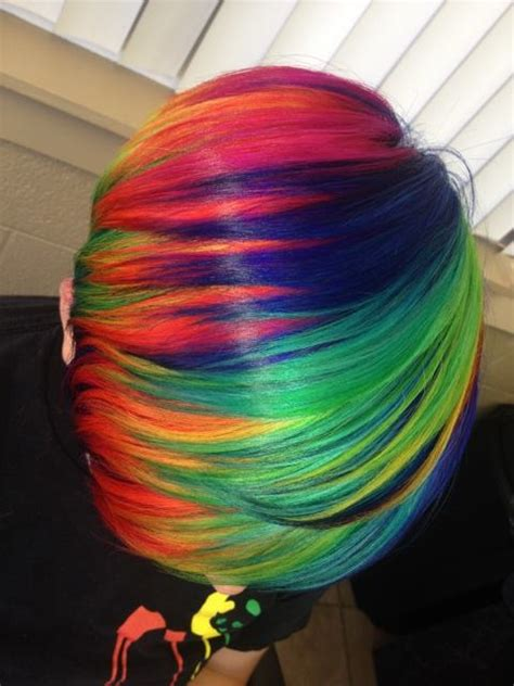 Beautiful Short Rainbow Hair Hair Colors Ideas