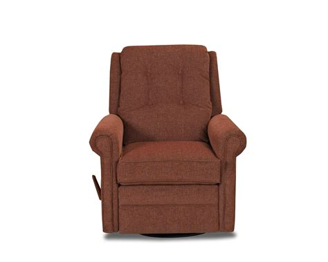 Klaussner Sand Key Transitional Manual Swivel Rocking Reclining Chair With Button Tufting