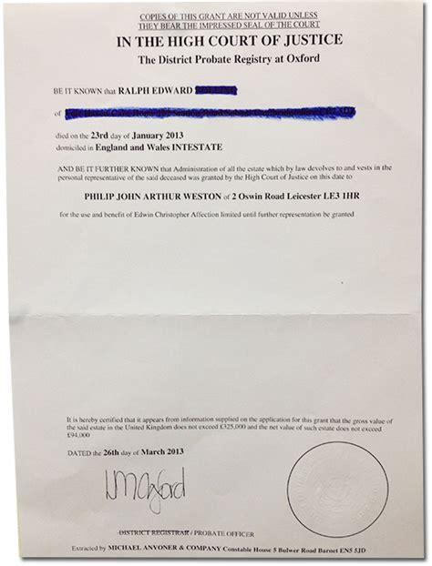 letter of administration letter of administration sle