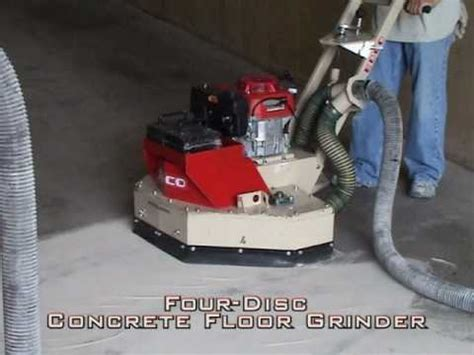 Watch Large (4 Disc) Concrete Floor Grinder From EDCO